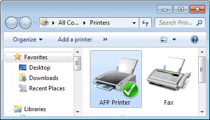 AFP Printer Screenshot 1