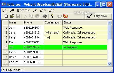 Voicent Broadcast By SMS Screenshot 3