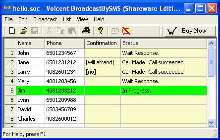 Voicent Broadcast By SMS Screenshot
