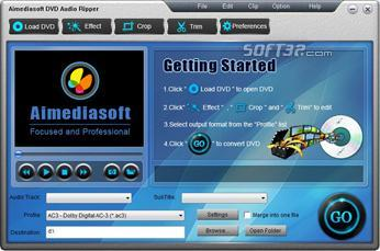 Aimediasoft DVD Audio Ripper Screenshot 2