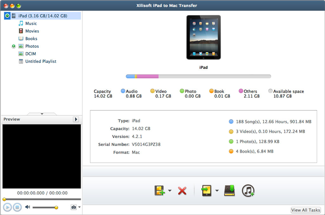 Xilisoft iPad to Mac Transfer Screenshot
