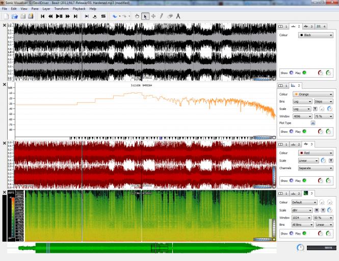 Sonic Visualiser Screenshot 3