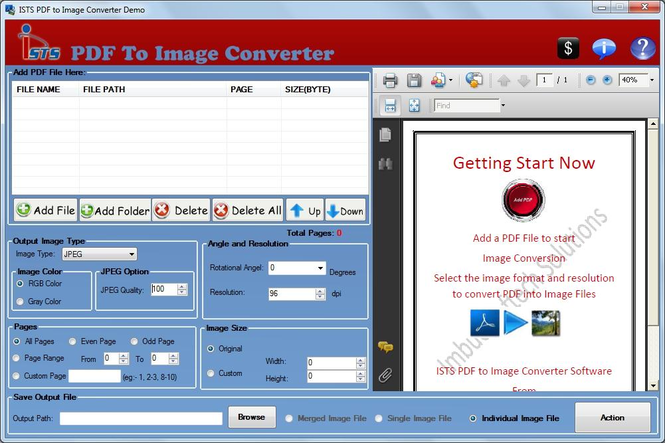 PDF File to Image Converter Screenshot