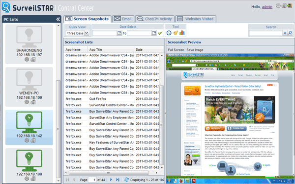 SurveilStar Any Parental Control Screenshot 1