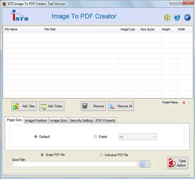 Convert Images into PDF Software Screenshot