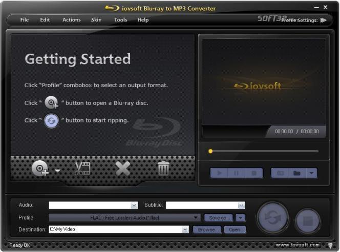 iovSoft Blu-ray to MP3 Converter Screenshot 3
