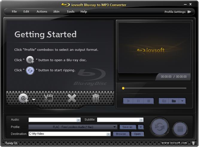 iovSoft Blu-ray to MP3 Converter Screenshot