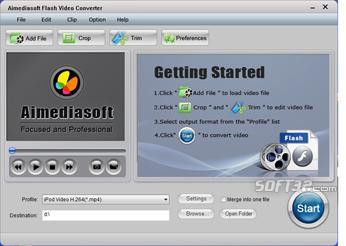 Aimediasoft Flash Video Converter Screenshot 2