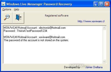Windows Live Messenger Password Recovery Screenshot 3