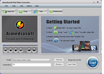 Aimediasoft iPad Video Converter Screenshot