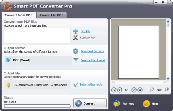 #1 Smart PDF Converter Screenshot