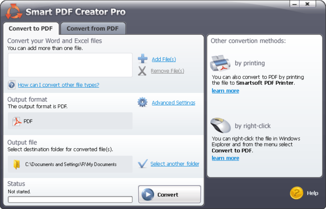 #1 Smart PDF Creator Pro Screenshot