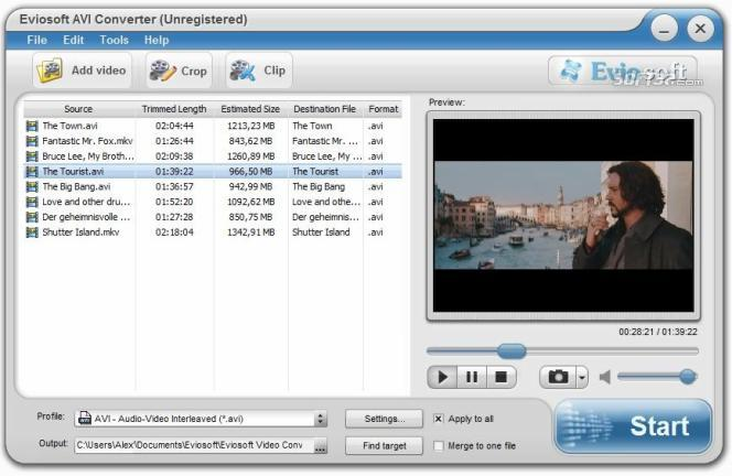 Eviosoft AVI Converter Screenshot 3