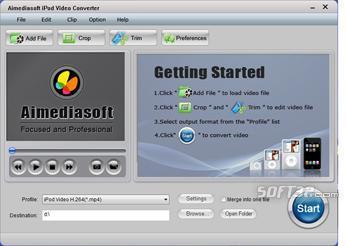 Aimediasoft iPod Video Converter Screenshot 2