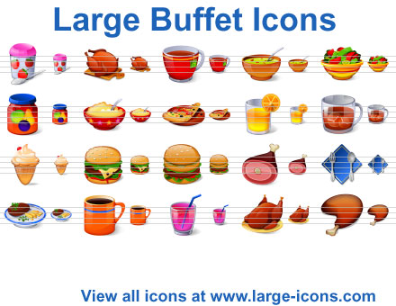 Large Buffet Icons Screenshot
