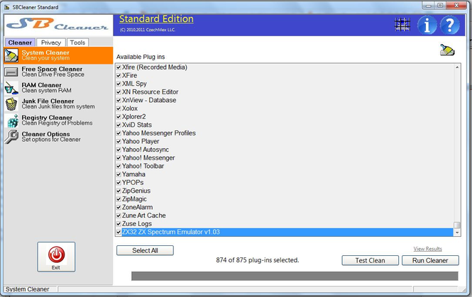SBCleaner Cleaner and Privacy Tools Screenshot 1