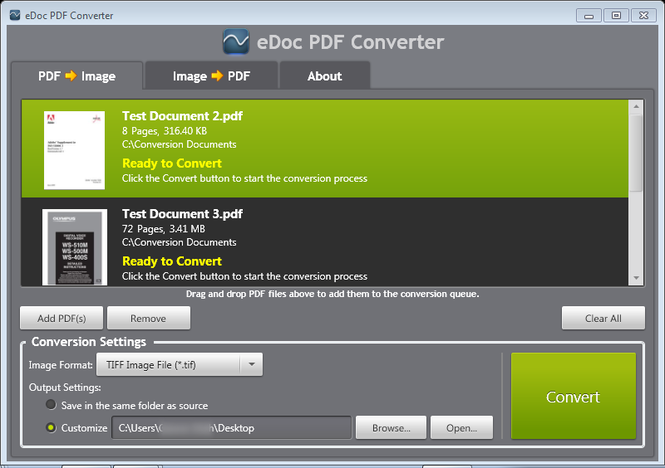 eDoc PDF Converter Screenshot