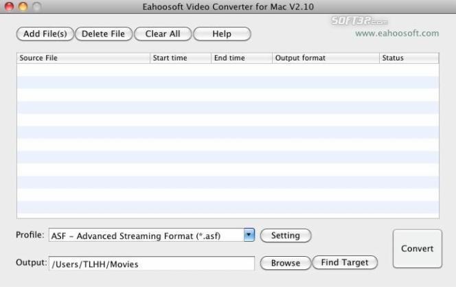 Eahoosoft Video Converter for Mac Screenshot 3