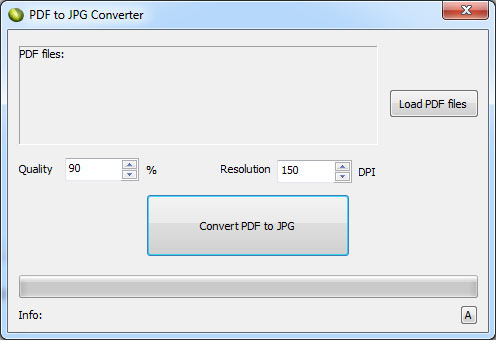LotApps Free PDF to JPG Converter Screenshot 1