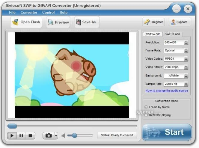 SWF to GIF/AVI Converter Screenshot 3