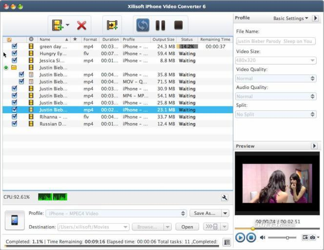 Xilisoft iPhone Video Converter for Mac Screenshot 3