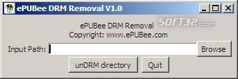 ePUBee DRM Removal Screenshot 2