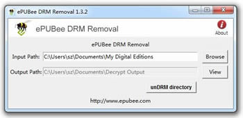 ePUBee DRM Removal Screenshot