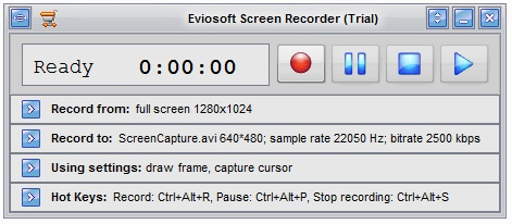 Eviosoft Screen Recorder Screenshot