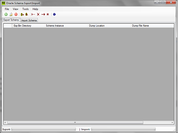 RLA Oracle Schema Export Import Screenshot