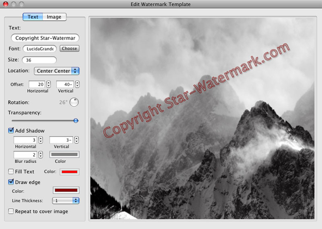 Star Watermark for Mac Screenshot
