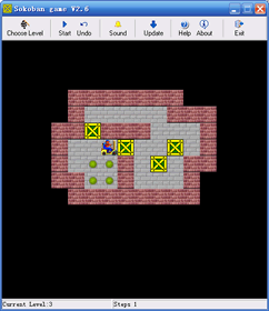Sokoban game Stand-alone version Screenshot