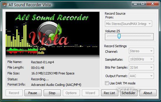 All Sound Recorder Vista Screenshot 3