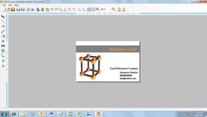 Business Card Maker Software Screenshot