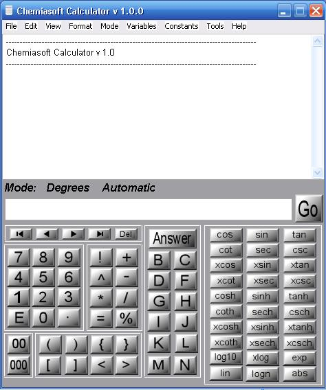 Chemiasoft Calculator Screenshot