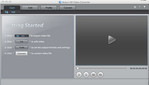 AuKun HD Video converter for Mac Screenshot