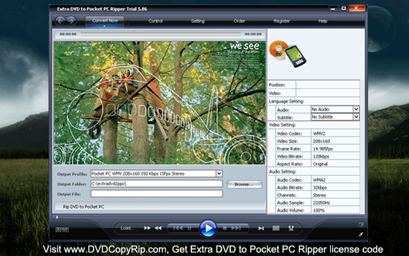 Extra DVD to Pocket PC Ripper Screenshot