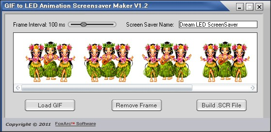 GIF to LED Animation Screensaver Maker Screenshot