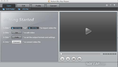 AuKun Blu-ray Ripper for Mac Screenshot 2