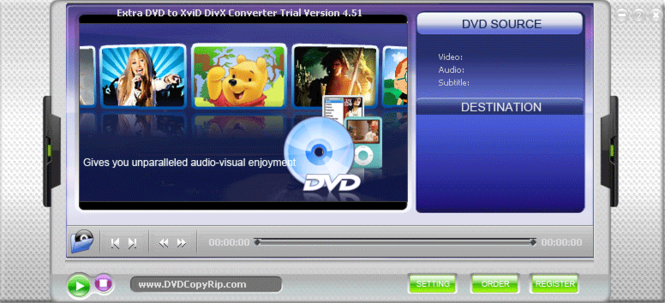 Extra DVD to XviD DivX Converter Screenshot 1