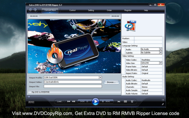 Extra DVD to RM RMVB Ripper Screenshot