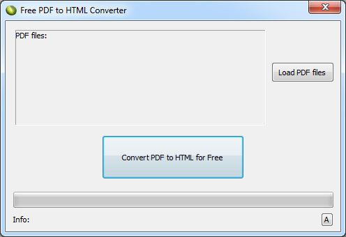 LotApps Free PDF to HTML Converter Screenshot 1