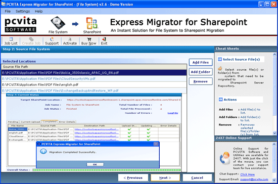 SharePoint Migrator Screenshot