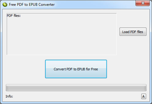 LotApps Free PDF to EPUB Converter Screenshot 1