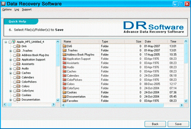 Recover NTFS Disk Files Screenshot