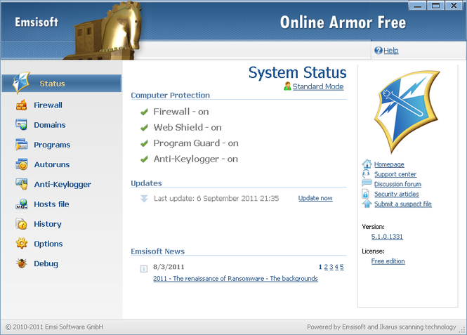 Online Armor Free Firewall Screenshot 2