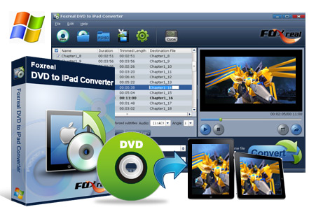 Foxreal DVD to iPad Converter Screenshot