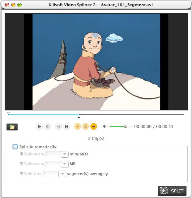 Xilisoft Video Splitter for Mac Screenshot
