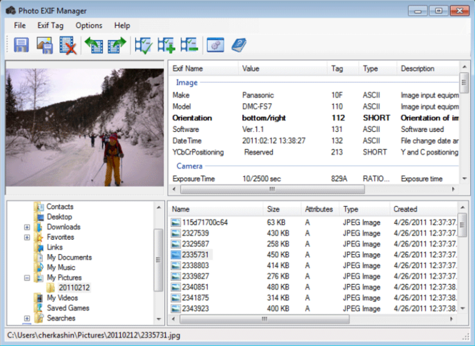 Photo EXIF Manager Screenshot