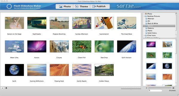 Flash Slideshow Maker for Mac Screenshot 3