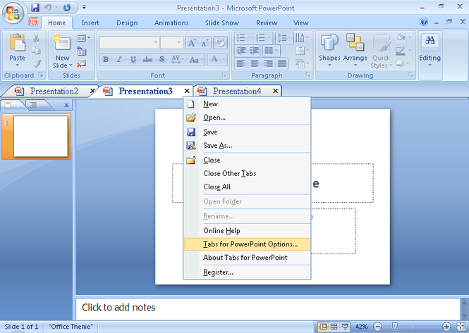 Presentation Tabs for PowerPoint 64bit Screenshot 1
